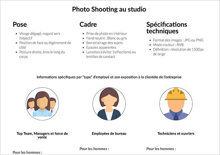 Dress code sample exemple pour entreprise Headshot Pro